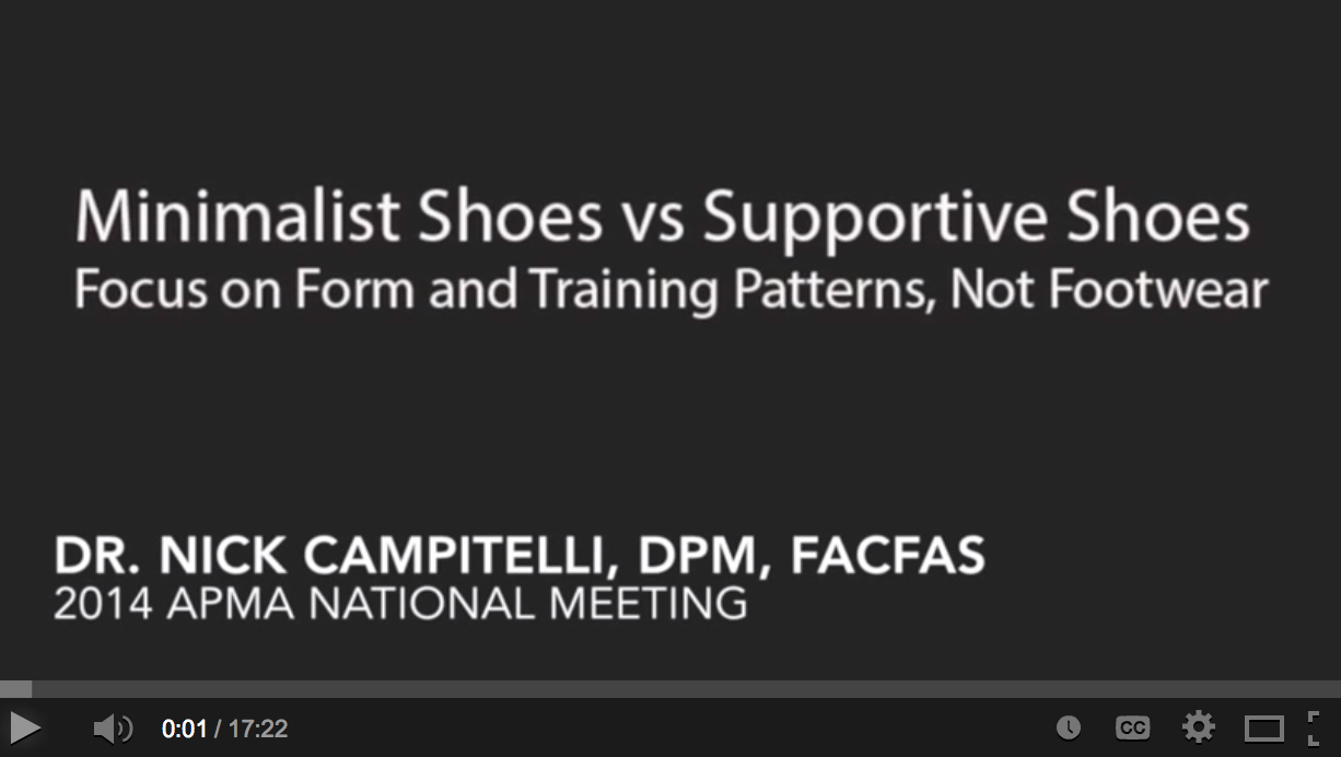 bd1abba036b9a My running shoes lecture from the American Podiatric Medical Association  National Meeting. Dr. Nick ...