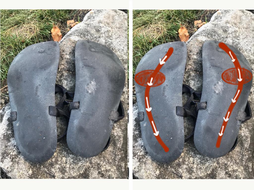 Shoe Wear Patterns Outside Heel Cool Design